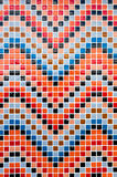 Colorful tiles mosaic composition pattern backgrou Royalty Free Stock Image