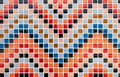 Colorful tiles mosaic composition pattern backgrou Royalty Free Stock Images
