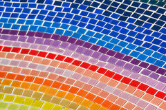 Colorful tiles mosaic floor background. Stock Photography