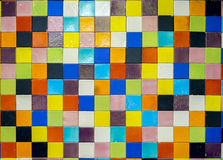 Colorful tiles mosaic - random color Royalty Free Stock Photos