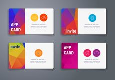 Colorful tiles templates for web, ui and pring Royalty Free Stock Photos