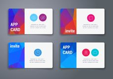 Colorful tiles templates for web, ui and pring Royalty Free Stock Photography