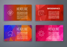 Colorful tiles templates for web, ui and pring Royalty Free Stock Image