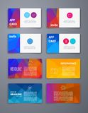 Colorful tiles templates for web, ui and pring Stock Images