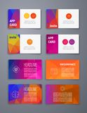 Colorful tiles templates for web, ui and pring Stock Image