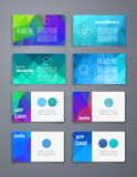 Colorful tiles templates for web, ui and pring Royalty Free Stock Images