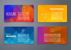 Colorful tiles templates for web, ui and pring Royalty Free Stock Photo