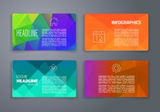 Colorful tiles templates for web, ui and pring Stock Photography