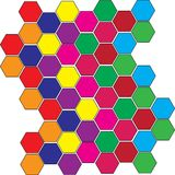 Colorful Tiles. Tiles in different vibrant colors Stock Photos