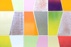 Colorful tiles wall Royalty Free Stock Photography