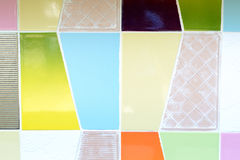 Colorful tiles wall Royalty Free Stock Photo
