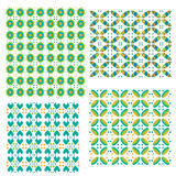 Colorful tiling textures collection Stock Photo