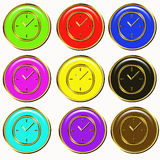 Colorful time buttons Stock Photos