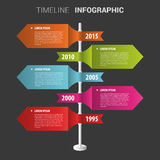 Colorful timeline Infographic design template. Vector Stock Photos