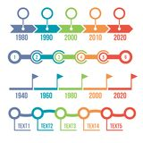 Colorful Timeline Infographic Set Royalty Free Stock Photos