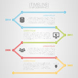 Colorful timeline infographic template vector with icons. Illustration Royalty Free Stock Photos