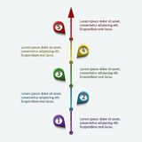 Colorful timeline infographic Royalty Free Stock Image