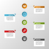 Colorful timeline infographics with icons. Illustration Stock Photography