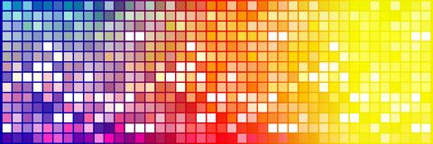 Colorful tiny squares. Modern checkered background with small colored squares Stock Photos