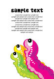 Colorful tiny worms Royalty Free Stock Photo