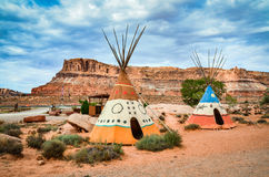 Colorful Tipi - Arches National Park - Moab, UT Stock Image