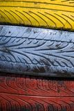 Colorful tires Stock Photos