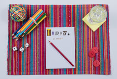 Colorful To Do List Scene-Today I Will royalty free stock image
