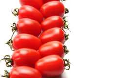Colorful tomato. Many delicious red tomatoes on the white background Stock Image