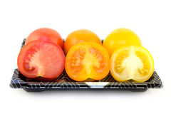 Colorful tomatoes Royalty Free Stock Photos