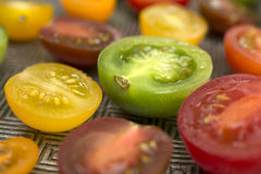 Colorful tomatoes on a plate Royalty Free Stock Image