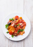 Colorful tomatoes salad Royalty Free Stock Photo