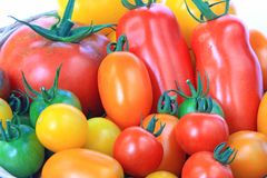 Colorful tomatoes Royalty Free Stock Photography