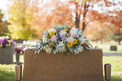 Colorful Tombstone Boquet Stock Image