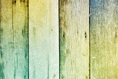 Colorful tone rough wooden texture background Royalty Free Stock Photo