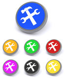 Colorful tool buttons Stock Images