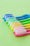 Colorful tooth brushes Royalty Free Stock Photo