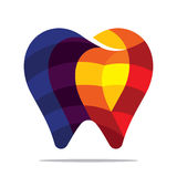Colorful tooth icon. Flat style design Stock Images