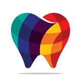 Colorful tooth icon. Flat style design Royalty Free Stock Images