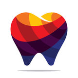 Colorful tooth icon. Flat style design Stock Image