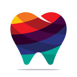 Colorful tooth icon. Flat style design Royalty Free Stock Photos