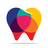 Colorful tooth icon. Flat style design vector illustration