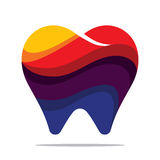 Colorful tooth icon. Flat style design Stock Photo