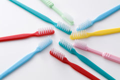 Colorful toothbrush Stock Photos