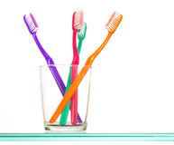 Colorful toothbrushes  Stock Image