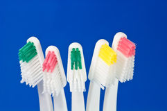 Colorful toothbrushes Royalty Free Stock Images