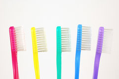 Colorful Toothbrushes Stock Photography