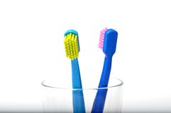 Colorful toothbrushes Royalty Free Stock Photos