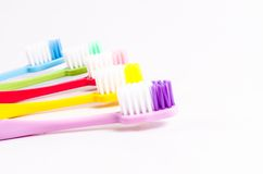 Colorful toothbrushs Stock Photos