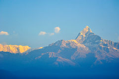 Colorful top fo the mountains in Pokhara,Nepal Stock Photography