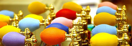 Colorful top of scent bottle from venice Stock Image